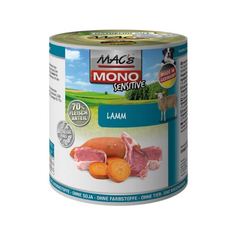 Konzerva MACs Dog MONO Sensitive jehně 400g