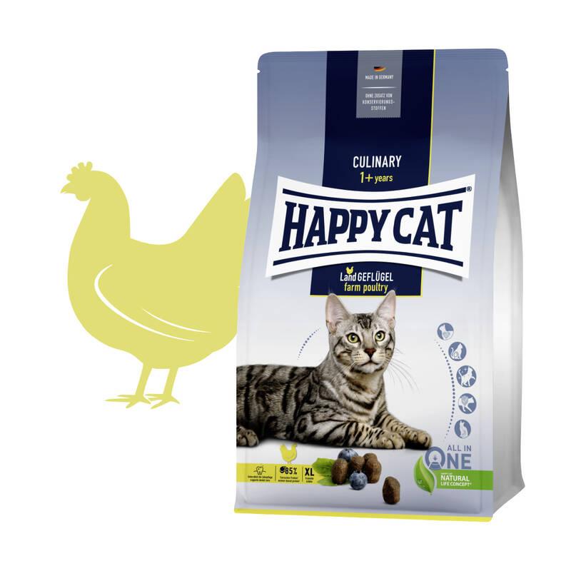 Granuly HAPPY CAT Culinary Land-Geflügel / Vidiecka hydina 10 kg + Doprava zadarmo