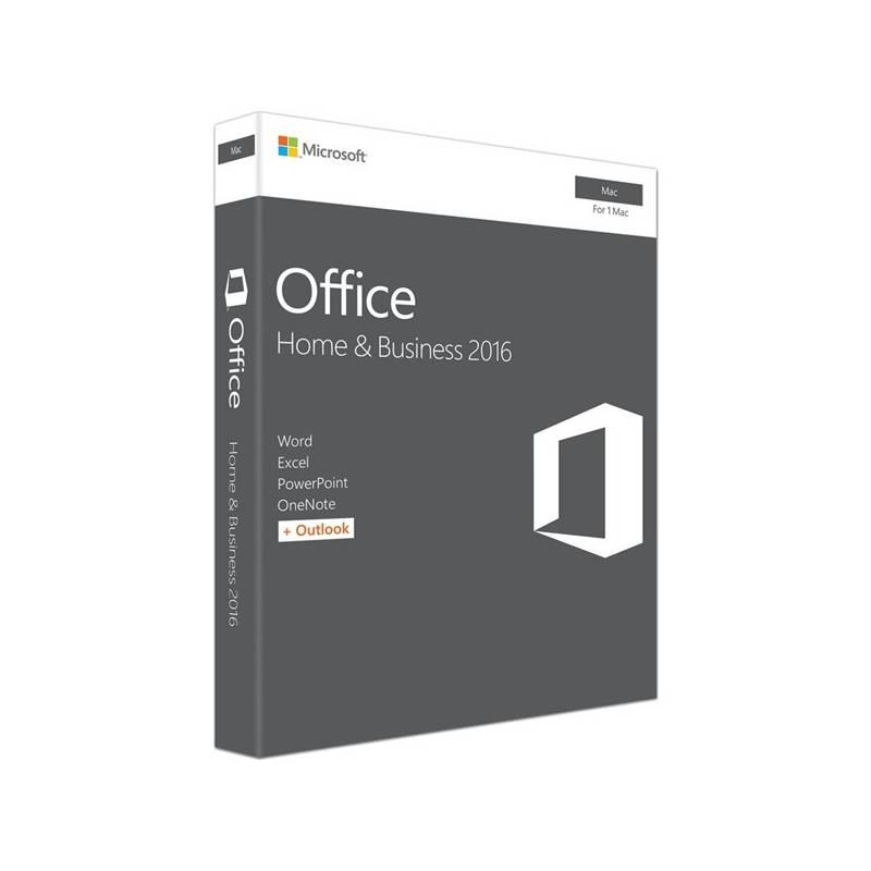 Software Microsoft Office 2016 Mac pro domácnosti a podnikatele SK (W6F-01053)