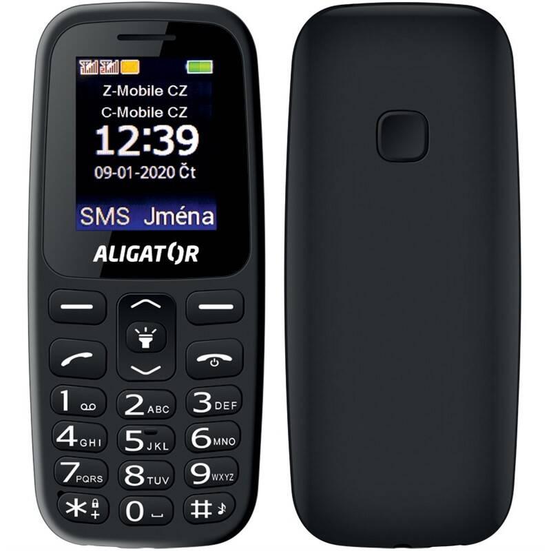 Mobilný telefón Aligator A220 Senior Dual SIM (A220BK) čierny