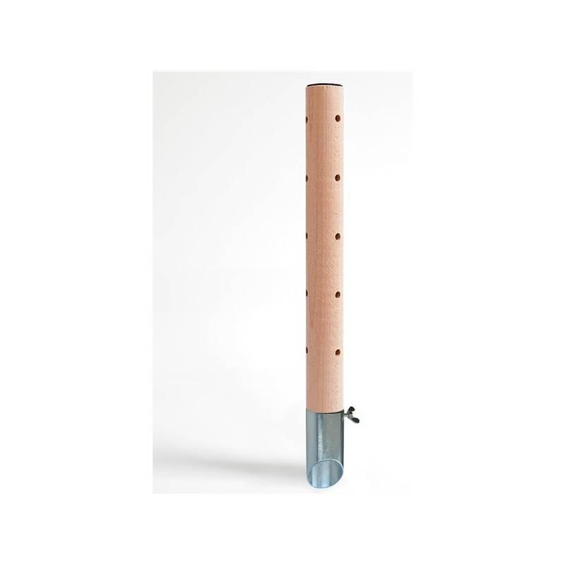 Psí pisoár DOG production 2 Drevený dizajn zvislé drážkovanie / pozinkovaný tŕň - 40 cm
