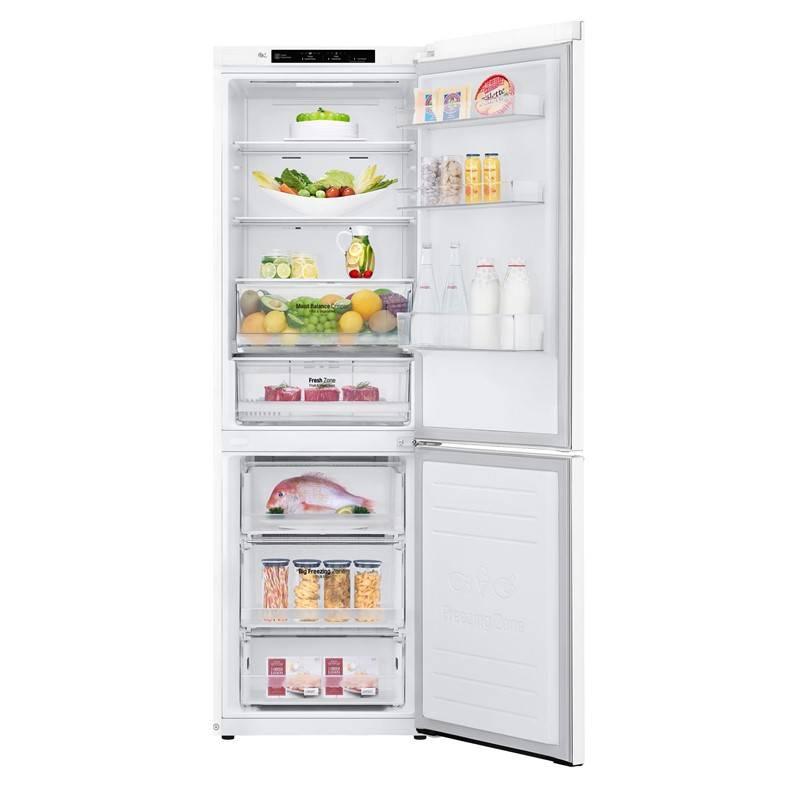 Kombinácia chladničky s mrazničkou LG GBB61SWJZN biela + Extra zľava 10 % | kód 10HOR2020 + Doprava zadarmo