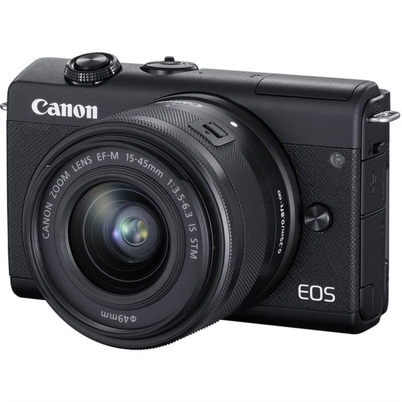 Digitálny fotoaparát Canon EOS M200 + EF-M 15-45 IS STM (3699C010) čierny + Doprava zadarmo