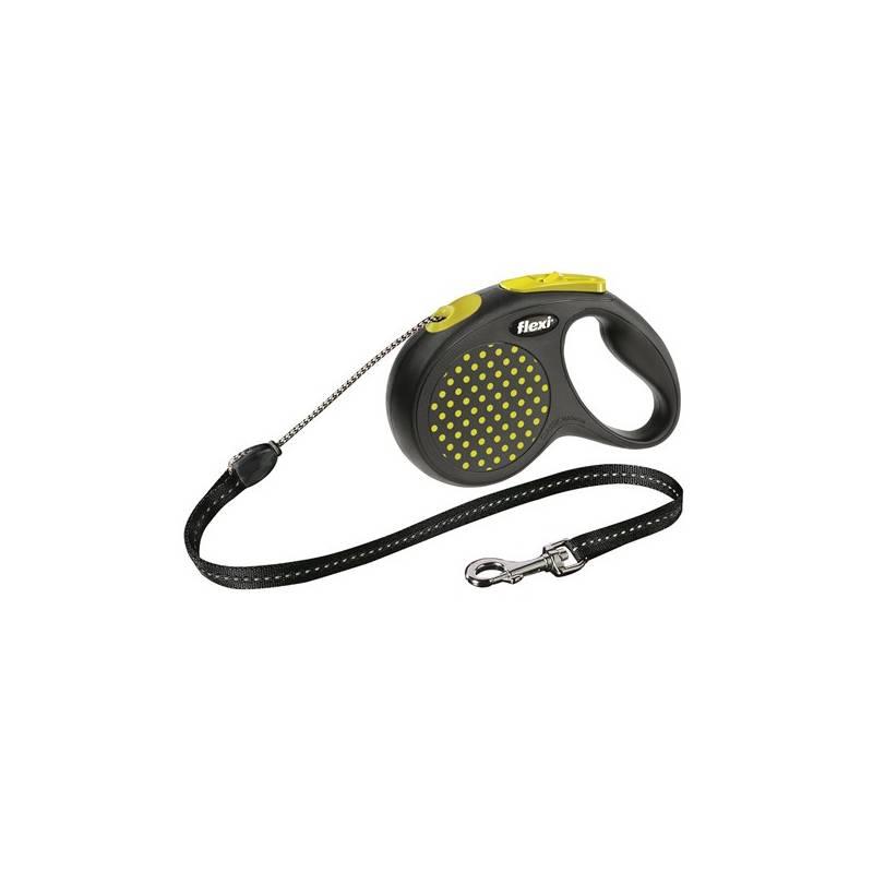 Vodítko Flexi Design M Lanko 5m/20kg žlté