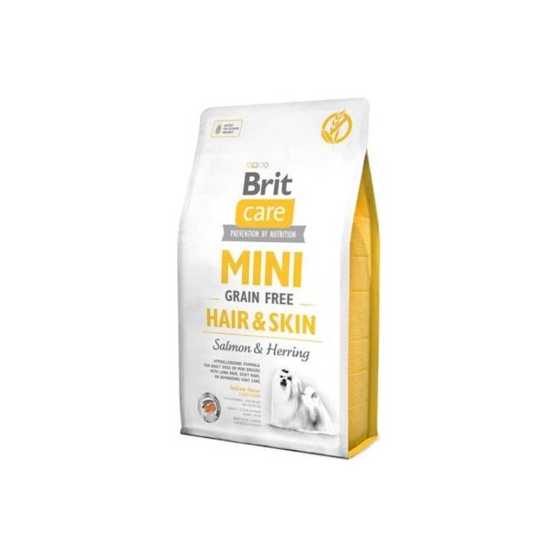 Granule Brit Care Dog Mini Grain Free Hair & Skin 7 kg Antiparazitní obojek Scalibor Protectorband pro psy - 48 cm