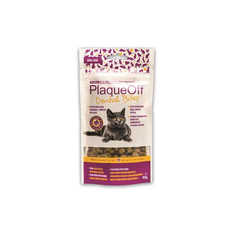Pamlsok PlaqueOff Dental Bites Cat 60g