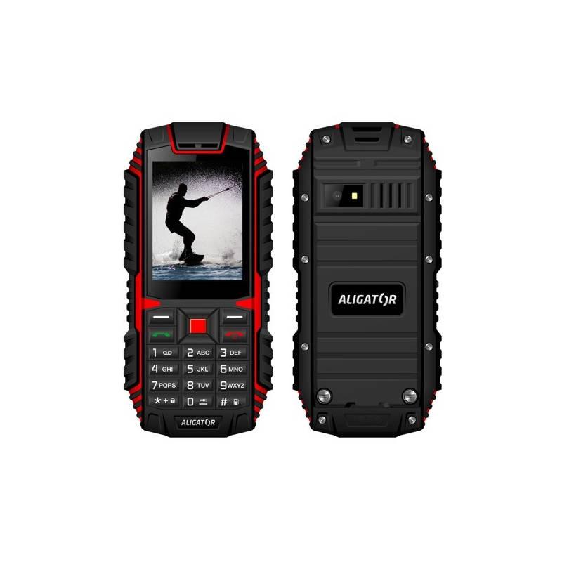 Mobilný telefón Aligator R12 eXtremo (AR12BR) čierny/červený