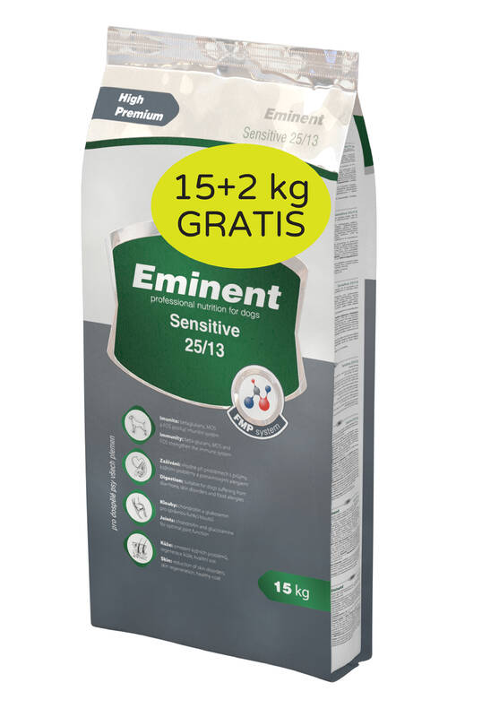 Granule Eminent Sensitive 15 kg + 2 kg ZDARMA