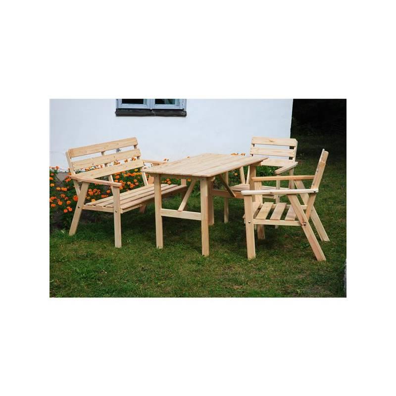 Záhradný nábytok Rojaplast Nordic drevený