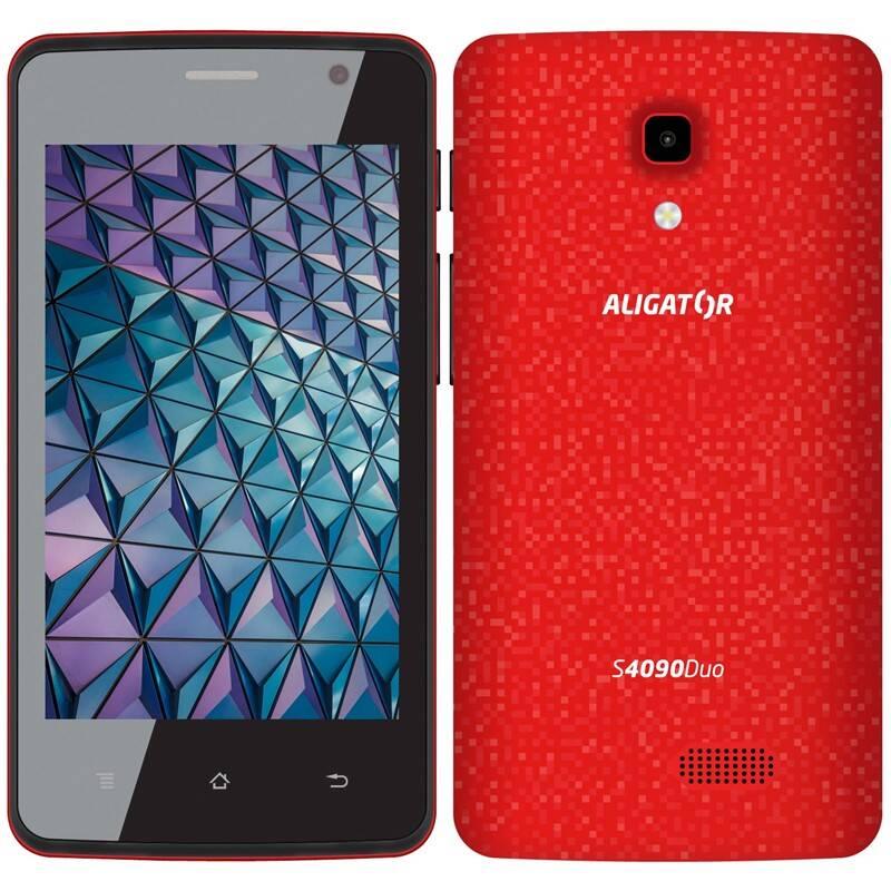 Mobilní telefon Aligator S4090 (AS4090RD) červený