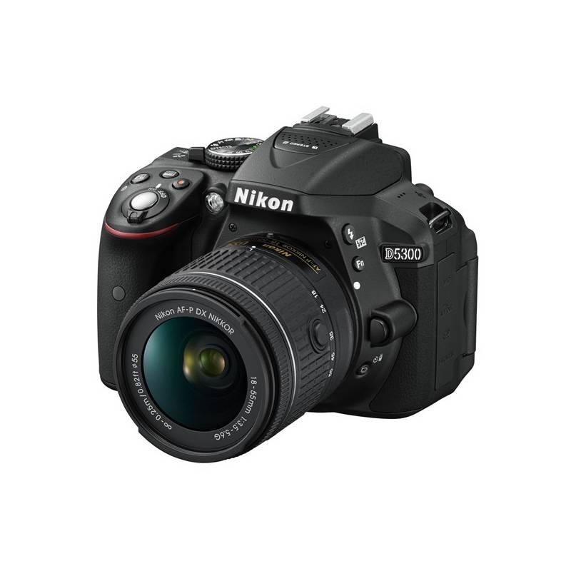 Digitálny fotoaparát Nikon D5300 + AF-P 18-55 VR čierny + Doprava zadarmo