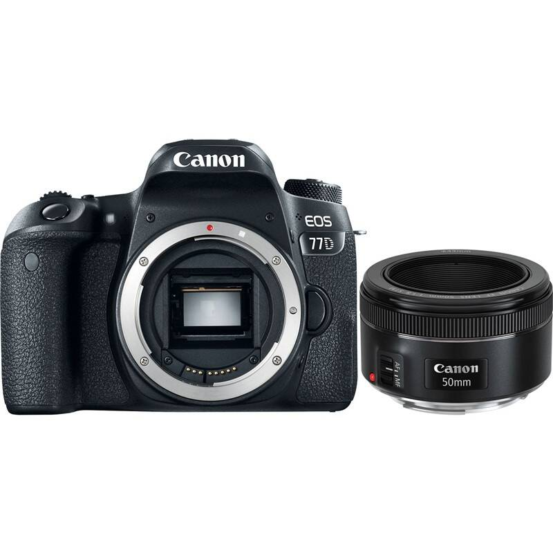 Set výrobkov Canon EOS 77D + EF 50 mm f/1.8 STM + Doprava zadarmo