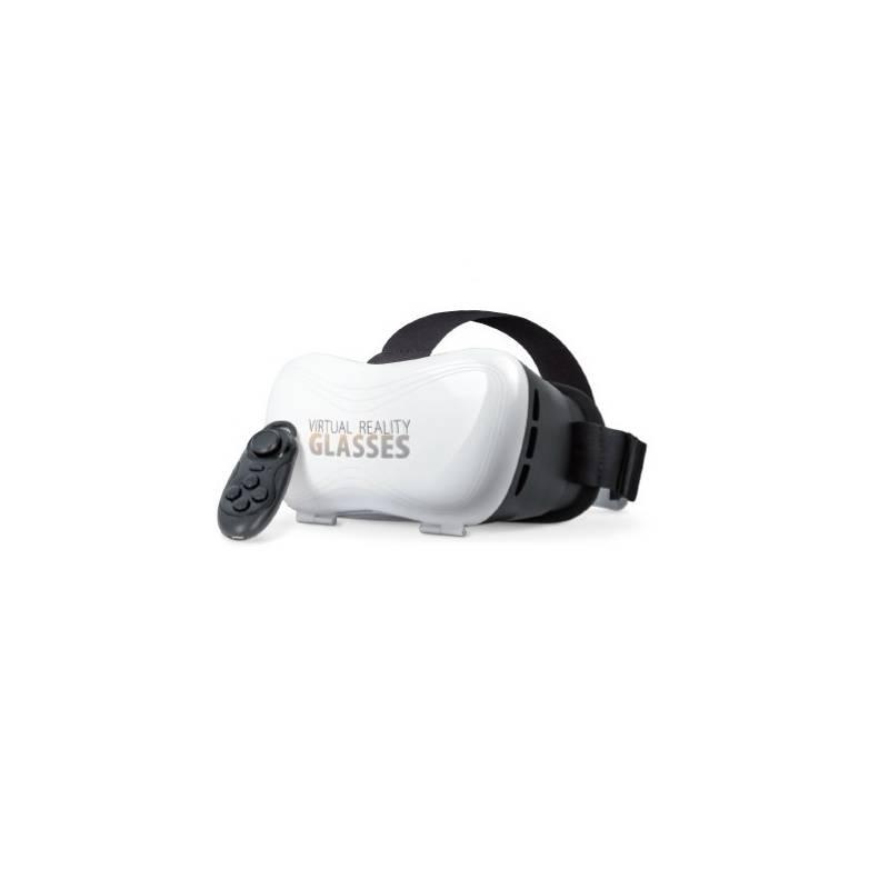 Okuliare pre virtuálnu realitu Forever VRB-100 s ovladačem (VRB-100) biela