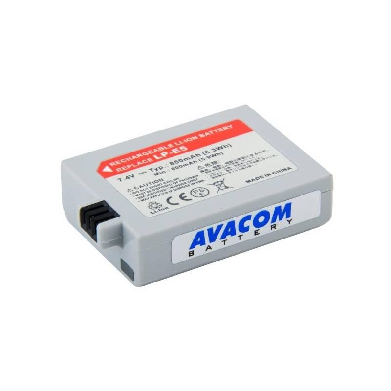 Batéria Avacom pro Canon LP-E5 Li-Ion 7,4V 850mAh (DICA-LPE5-365N2)