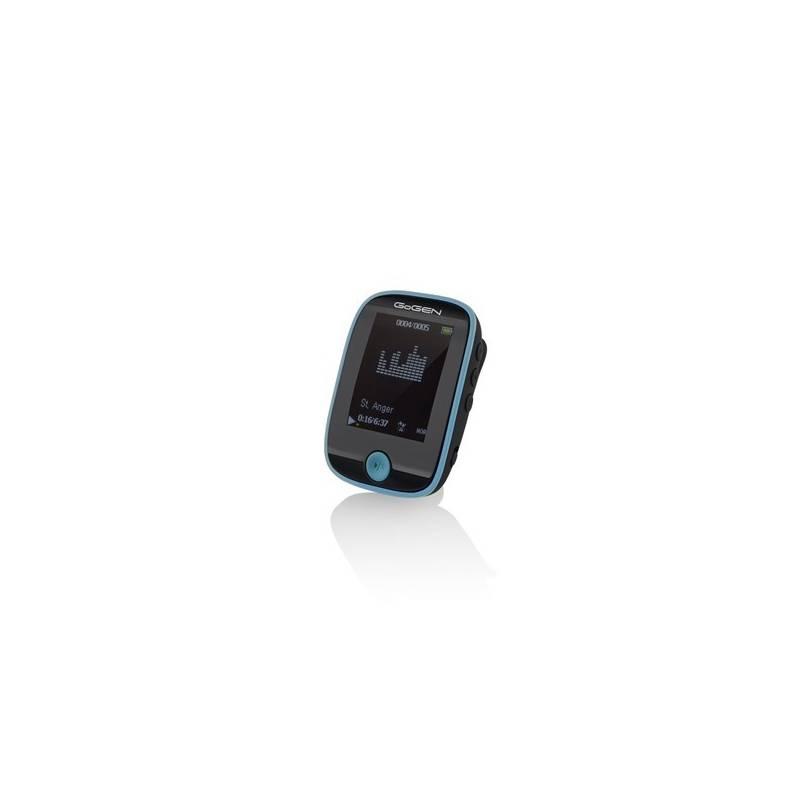MP3 prehrávač GoGEN MXM 421 GB8 BT čierny/modrý