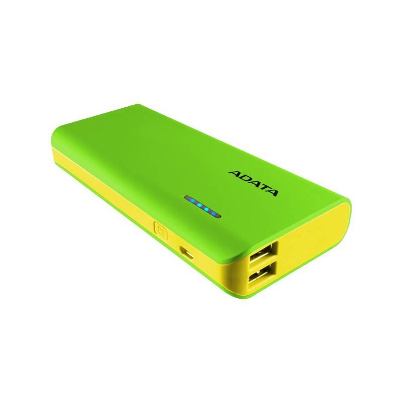 Power Bank ADATA PT100 10000mAh (APT100-10000M-5V-CGRYL) žltá/zelená