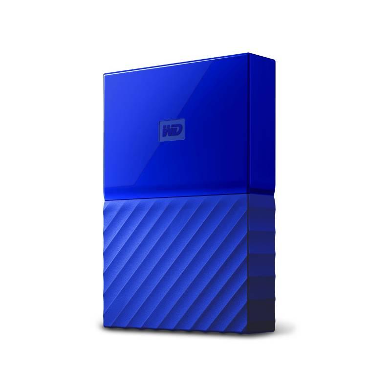 """Externí pevný disk 2,5"""" Western Digital My Passport 4TB (WDBYFT0040BBL-WESN) modrý"""