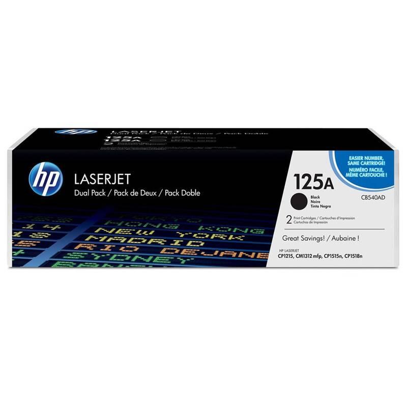 Toner HP 125A, 2x2200 stran, 2-pack (CB540AD) čierny + Doprava zadarmo
