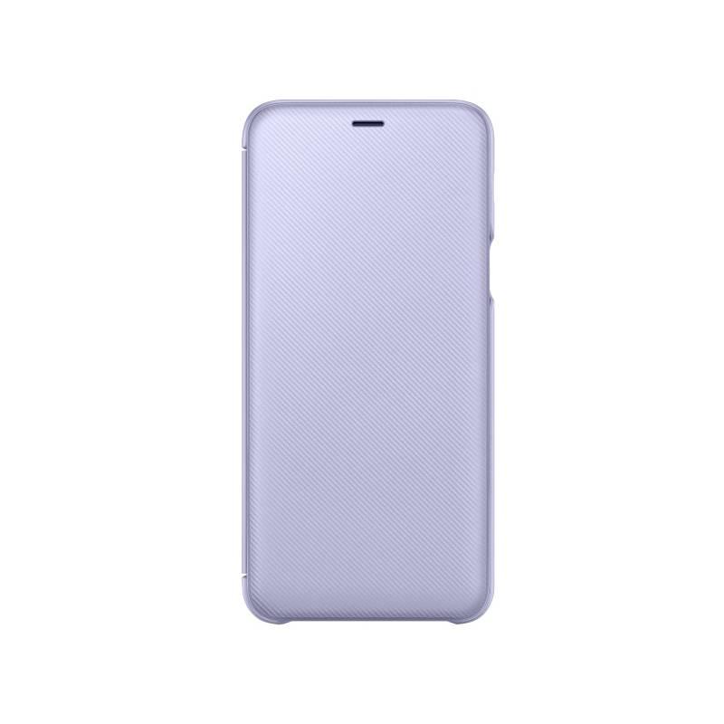 Puzdro na mobil flipové Samsung Wallet Cover pro Galaxy A6+ - levandulová (EF-WA605CVEGWW)