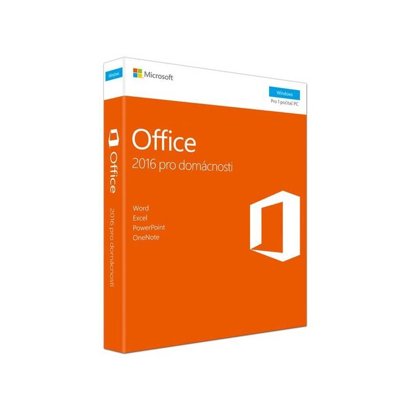 Software Microsoft Office 2016 CZ pro domácnosti (79G-04723) + Doprava zadarmo