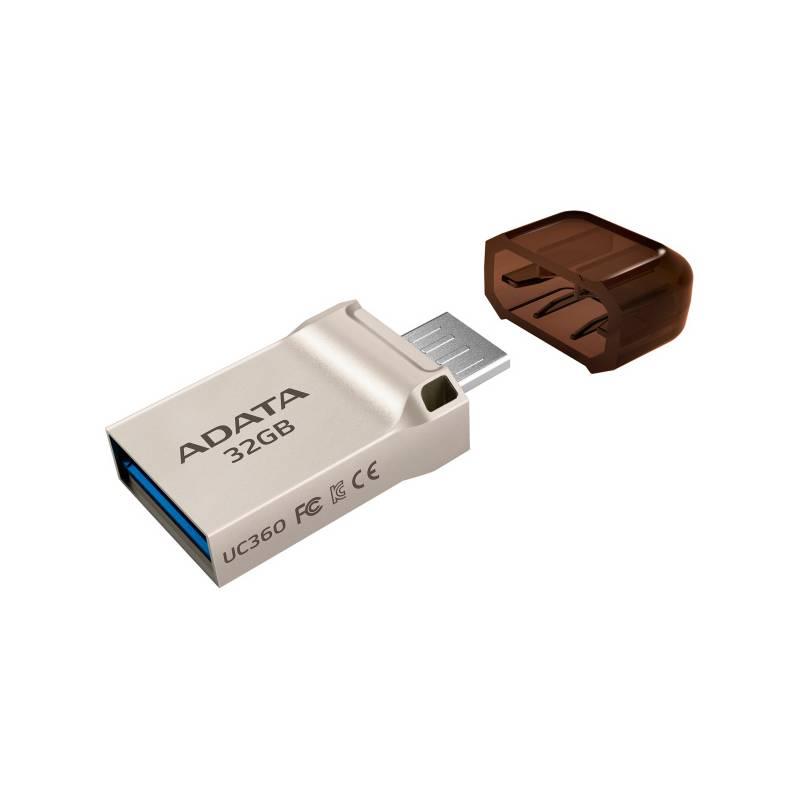 USB flash disk ADATA UC360 32GB OTG MicroUSB/USB 3.1 (AUC360-32G-RGD) zlatý