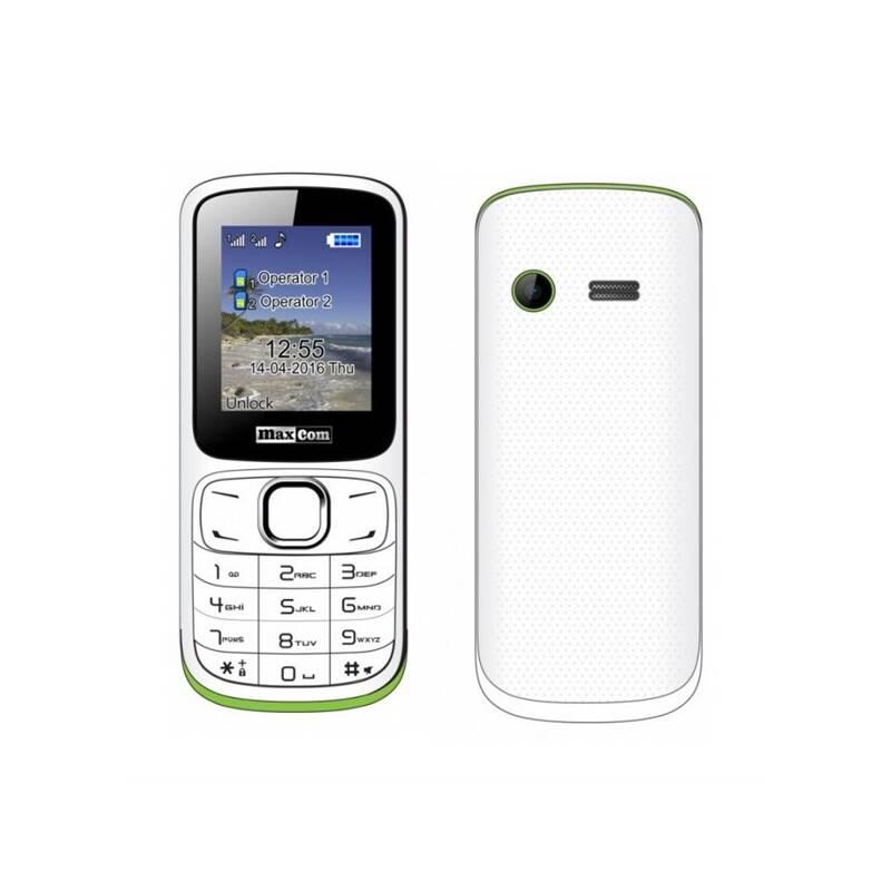 Mobilný telefón MaxCom Classic MM129 Dual SIM (MM129WHDS) biely/zelený Software F-Secure SAFE, 3 zařízení / 6 měsíců (zdarma)