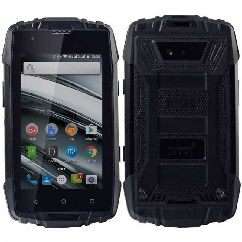 Mobilní telefon myPhone HAMMER IRON 2 Dual SIM (TELMYAHIRON2BK) černý