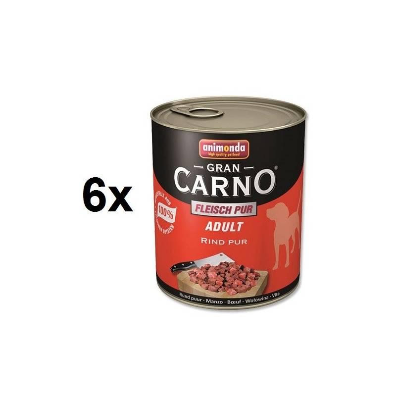Konzerva Animonda Adult Gran Carno hovädzie mäso 6 x 800g