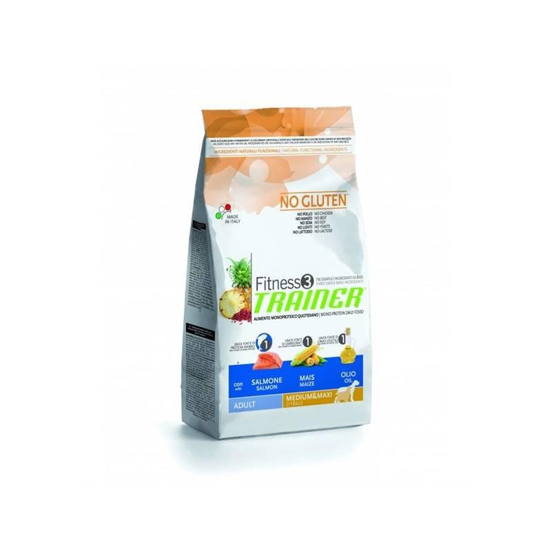 Granule Trainer Fitness3 Adult Medium/Maxi Losos a kukuřice 12,5 kg Antiparazitní obojek Scalibor Protectorband pro psy - 48 cm