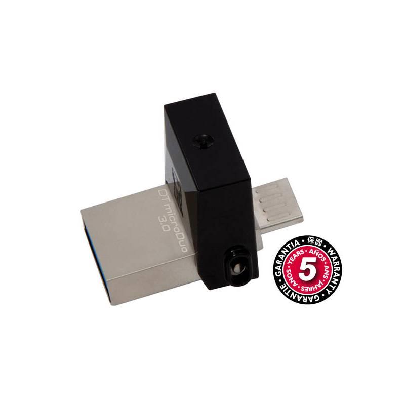 USB flash disk Kingston DataTraveler Micro Duo 3.0 64GB OTG MicroUSB/USB 3.0 (DTDUO3/64GB) čierny + Extra zľava 10 % | kód 10HOR2020