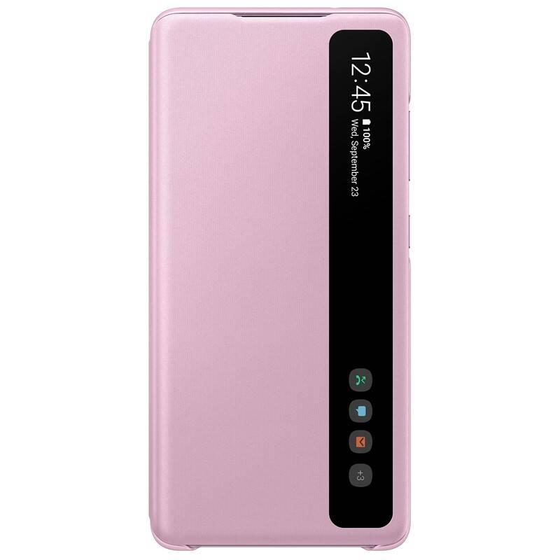 Puzdro na mobil flipové Samsung Clear View na Galaxy S20 FE (EF-ZG780CVEGEE) fialové + Doprava zadarmo