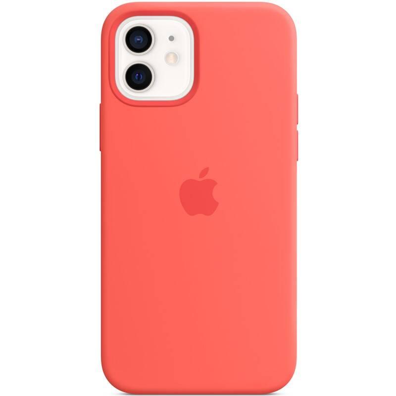 Kryt na mobil Apple Silicone Case s MagSafe pre iPhone 12 mini - citrusovo ružový (MHKP3ZM/A)