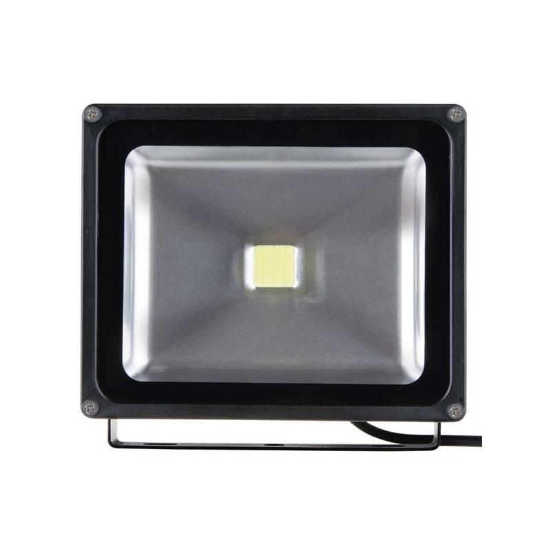 LED reflektor EMOS HOBBY 50W, studená bílá, 3200lm (1531221040) čierny