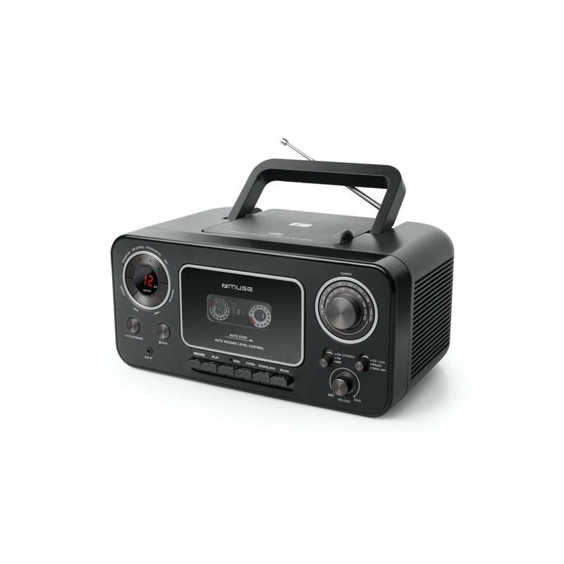 Rádiomagnetofón s CD MUSE M-182RDC (M-182RDC) čierny