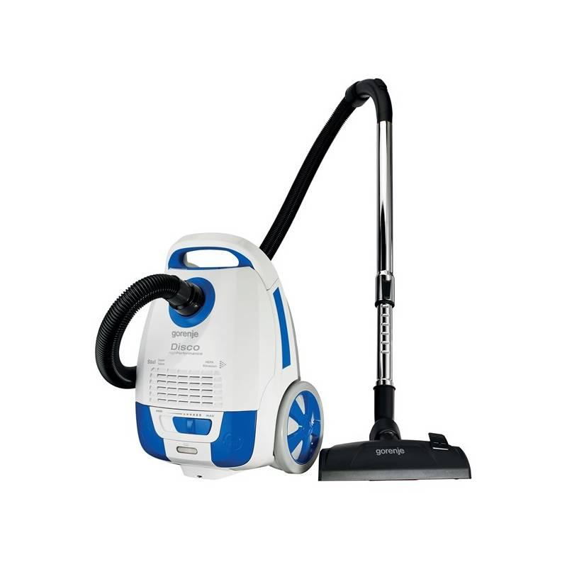 Vysávač podlahový Gorenje Disco VCEB21DWB biely/modrý