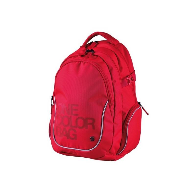 Batoh školský Stil teen One Colour červený