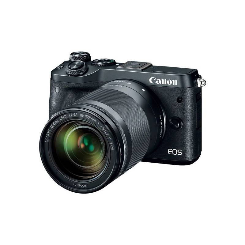 Digitálny fotoaparát Canon EOS M6 + 18-150mm IS STM (1724C022) čierny Paměťová karta Kingston SDXC 64GB UHS-I U1 (90R/45W) (zdarma) + Doprava zadarmo