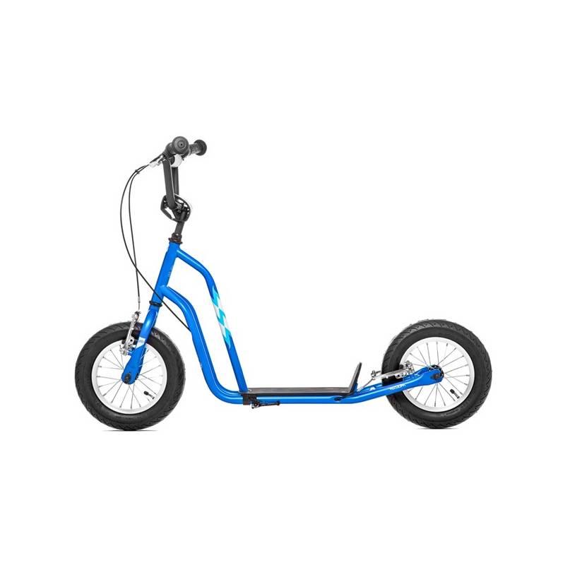 """Kolobežka Yedoo Basic Wzoom 12"""" modrá + Reflexní sada 2 SportTeam (pásek, přívěsek, samolepky) - zelené v hodnote 2.80 € + Doprava zadarmo"""