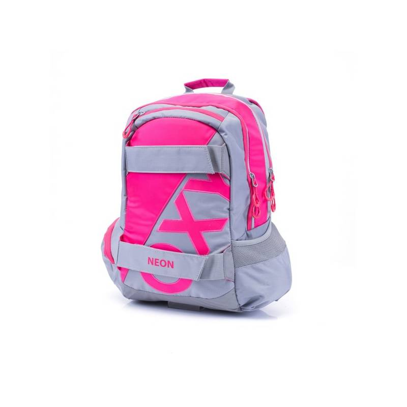 Batoh školský P + P Karton anatomický OXY SPORT Neon Pink Sáček na přezůvky P + P Karton OXY Neon Dark Blue (zdarma)