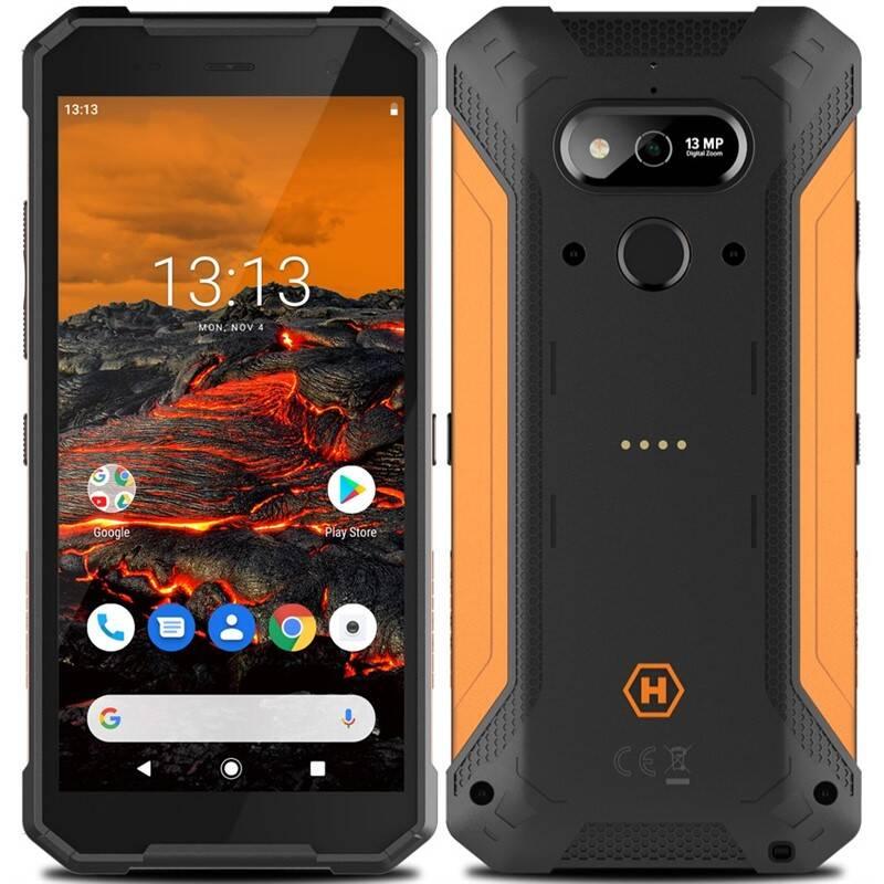 Mobilný telefón myPhone Hammer Explorer (TELMYAHEXPLOOR) čierny/oranžový