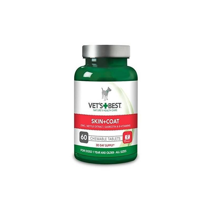 Tablety Vet´s Best Žvýkací tablety na srst a kůži 60 tab.