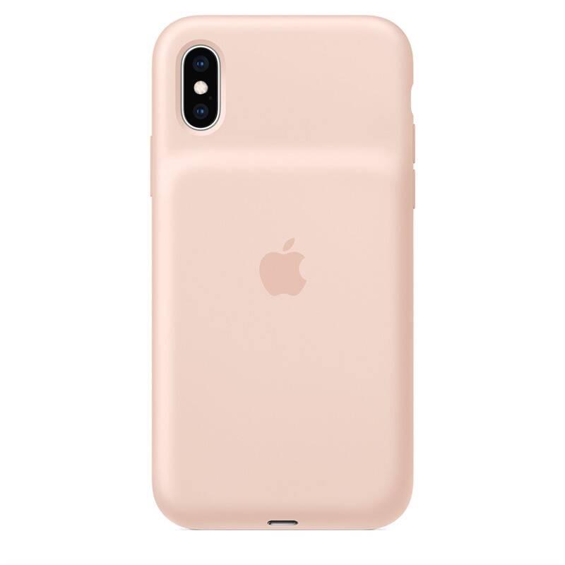 Kryt na mobil Apple Smart Battery Case pro iPhone Xs - pískově růžový (MVQP2ZM/A)