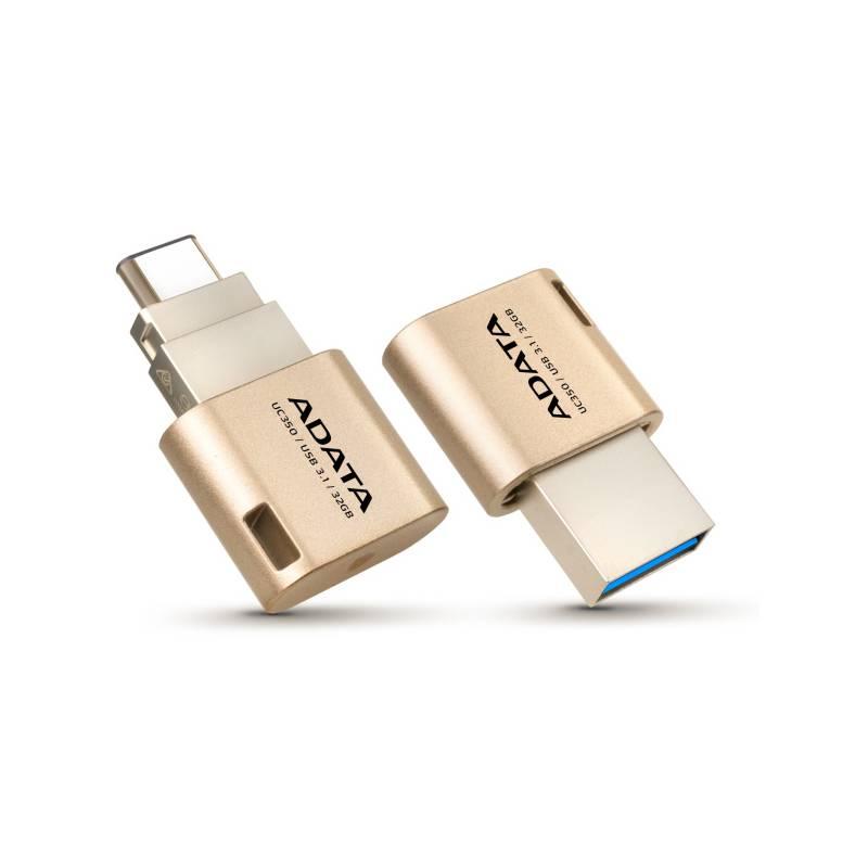 USB flash disk ADATA UC350 32GB OTG USB-C/USB 3.1 (AUC350-32G-CGD) zlatý
