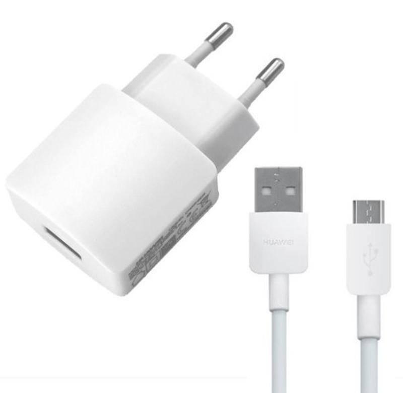 Nabíjačka do siete Huawei HW-050200E01W + micro USB kabel, 2A (bulk) (429937) biela