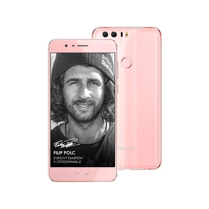Mobilný telefón Honor 8 Dual SIM Premium 64 GB (51090YUJ) ružový Software F-Secure SAFE 6 měsíců pro 3 zařízení (zdarma) + Doprava zadarmo