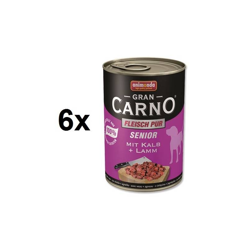 Konzerva Animonda Senior Gran Carno teľacie + jahňa 6 x 400g
