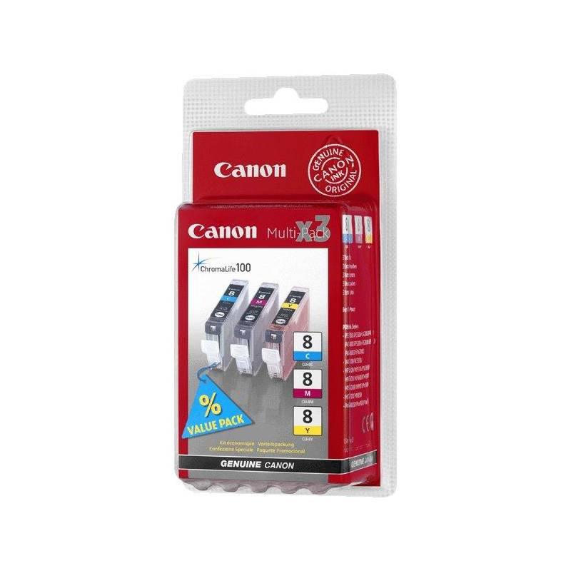 Cartridge Canon CLI-8 CMY, 420 stran - originální (0621B026) červená/modrá/žltá