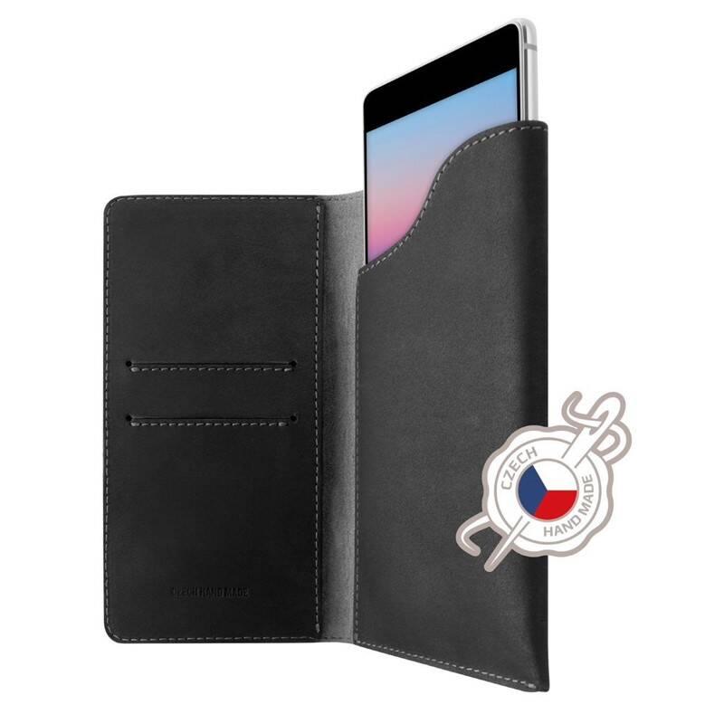 Púzdro na mobil flipové FIXED Pocket Book pro Apple iPhone 6 Plus/6s Plus/7 Plus/8 Plus/Xs Max (FIXPOB-335-GR) sivé