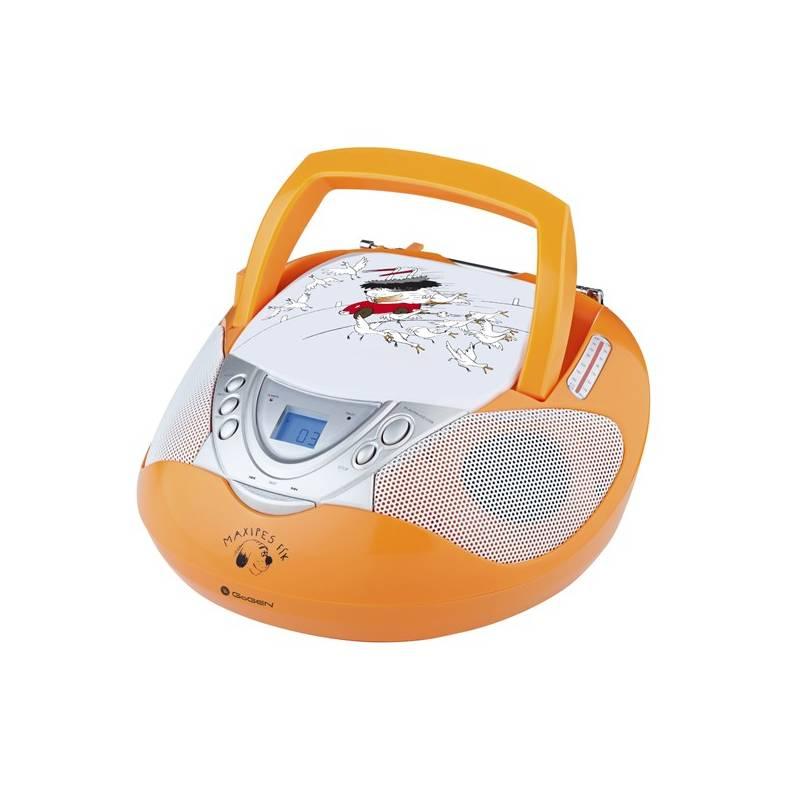 Rádioprijímač s CD GoGEN Maxipes Fík MAXI RADIO O oranžový