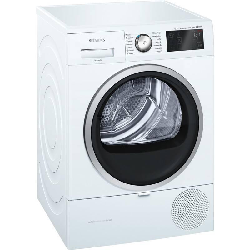 Sušička bielizne Siemens iQ500 WT47U690CS biela + Doprava zadarmo